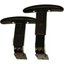 Optional Height-Adjustable Arms for Trexus Office Chairs -  Pair