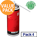 5 Star Office Spray Computer Air Duster Can HFC Free Compressed Gas Flammable 400ml (Pack 4)