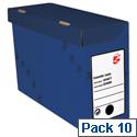 Transfer Case Foolscap Blue 10 Pack 5 Star