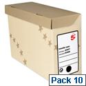 Transfer Case Foolscap Sand 10 Pack 5 Star