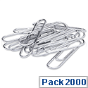 Small Metal Paper Clips Plain 22mm Pack 10x200 5 Star