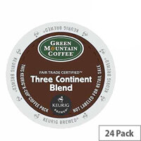 Green Mountain Coffee Fair Trade Certified Three Continent Blend Pack 24 K-Cup pods for Keurig K140 & K150 93-07006