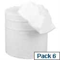 5 Star Centrefeed Paper Tissue Refill for Dispenser White Two-ply 150m [Pack 6]