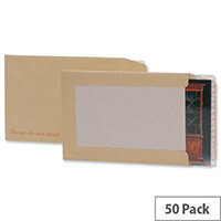 C3 Board Backed Envelopes Brown Peel and Seal Pack 50 5 Star