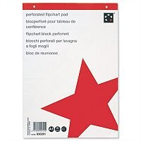Flipchart Pad A1 Perforated 70gsm 40 Sheets White Pack 5 5 Star