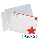A3 Plastic Punched Pockets Landscape Pack 25 5 Star