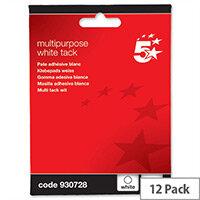 White Tack Multipurpose Reusable 70g Pack 12 5 Star