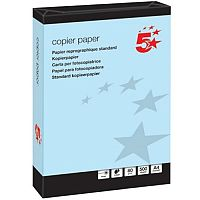 A4 Medium Blue Coloured Paper Multifunctional Ream-Wrapped 80gsm 500 Sheets 5 Star