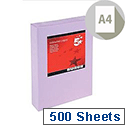 A4 Medium Violet Coloured Paper Multifunctional Ream-Wrapped 80gsm 500 Sheets 5 Star