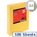 A4 Medium Gold Coloured Paper  Multifunctional Ream-Wrapped 80gsm 500 Sheets 5 Star
