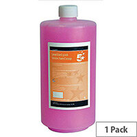 5 Star Luxury Pink Liquid Hand Soap Dispensers Refill 1 Litre  (Pack 1)
