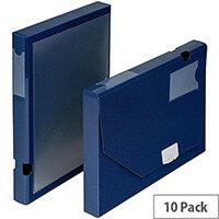 5 Star Office  A4  Document Box Polypropylene 30mm Blue  Pack 10