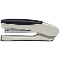 5 Star Office Stapler Full Strip Stand Up Soft Grip Capacity 20 Sheets Silver/Black