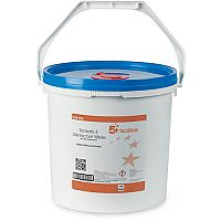 5 Star Facilities Disinfectant Wipes Anti-bacterial PHMB-free BPR Low-residue Pack 1 (Bucket of 1500 Wipes)