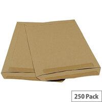 5 Star Office C4 90g/m2 Mediumweight Self Seal Pocket Window Envelopes Manilla Pack of 250