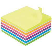 5 Star Office 76x127mm Re-move Sticky Notes 6 Neon/Pastel Colours