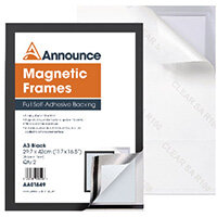 Announce Magnetic Frames A3 Black Pack of 2 AA01849