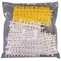 Announce Peg Letter Board Characters Assorted Pack of 692 E-KIT692