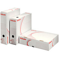 Esselte Standard Archive Boxes Wide Opening 80mm White Pack of 10
