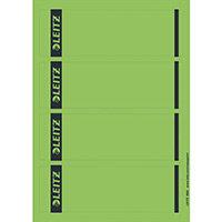 Leitz PC Printable Spine Labels for Standard Lever Arch Files Laser Short Wide Green 25 A4 Sheets - 4 Labels per Sheet 100 Labels