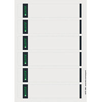 Leitz PC Printable Spine Labels for Standard Lever Arch Files Laser Grey Short Small 100 A4 Sheets - 6 Labels per Sheet 600 Labels