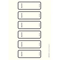 Leitz PC printable Spine Labels for WOW, Style, Solid and Urban Chic Lever Arch Files 111x35mm 10 A4 Sheets - 6 Labels per Sheet 60 Labels