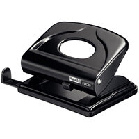 Rapid Small Metal Hole Punch FMC20 20 Sheets Black