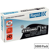 Rapid SuperStrong Staples 9/8mm 5M G