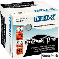 Rapid SuperStrong Staples 9/12mm 5M G