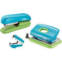 Rapid Mini Stapler F5 & Hole Punch Set Blister Pack Blue & Green