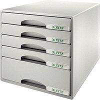 Leitz Plus 5 Drawer Cabinet Grey