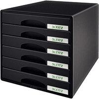 Leitz Plus 6 Drawer Cabinet Black
