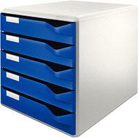 Leitz Post Set 5 Drawers A4 Blue