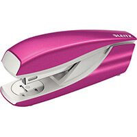 Leitz New NeXXt WOW Metal Office Stapler Blister Pk 3mm Metallic Pink