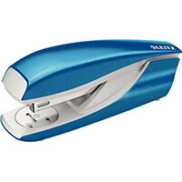 Leitz New NeXXt WOW Metal Office Stapler Blister Pk 3mm Metallic Blue
