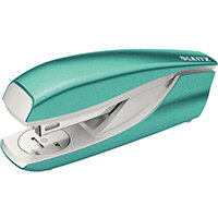 Leitz New NeXXt WOW Metal Office Stapler Blister Pk 30 Sheet Capacity Ice Blue