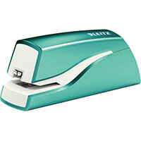 Leitz NeXXt Series WOW Electric Stapler Battery-Powered Ice Blue