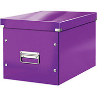 Leitz Box Click & Store Cube Large Storage Box Purple