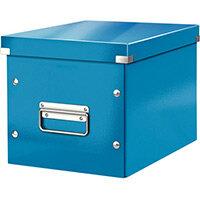 Leitz Box Click & Store Cube Medium Storage Box Blue