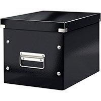 Leitz Box Click & Store Cube Medium Storage Box Black