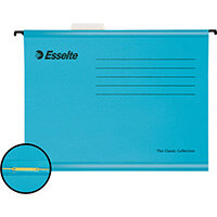 Esselte Classic Reinforced Suspension Files with Mechanism A4 Blue Pack of 10