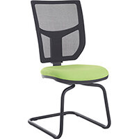 Altino mesh back visitors chair with no arms and chrome base - made to order