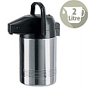 Addis Chrome President Pump Pot Vacuum Stainless Steel Jug 2 Litre 637201600