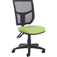 Altino 2 lever high mesh back operators chair with no arms, chrome base and seat slide - made to order