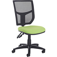 Altino 3 lever high mesh back operators chair with no arms, chrome base and seat slide - made to order