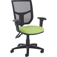 Altino 3 lever high mesh back operators chair with adjustable arms and chrome base - made to order