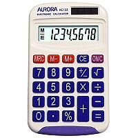 Aurora Handheld Calculator Battery Solar-power 8 Digit HC133
