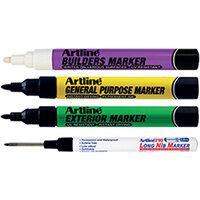 Artline EKPRW4 Builders Marker Kit Pack of 4 EKPR BUILDERS W4