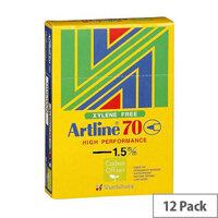 Artline 70 Black Bullet Tip Marker 1.5mm Pack of 12