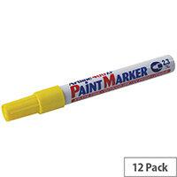 Artline 400 Paint Pen Marker Medium Bullet Tip Yellow Pack of 12